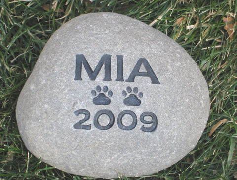 Personalized Pet Memorial Stone Grave Headstone 5-6 Inch Burial Gravestone Marker