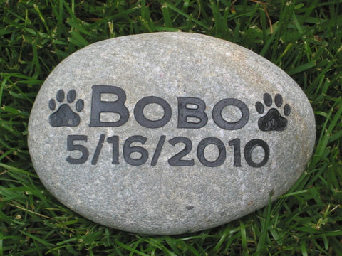 Dog, Cat Memorial Stone, Memorial Pet Stone, Grave Marker 6-7 Inch - MainlineEngraving.Com