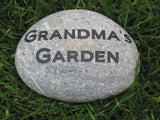Personalized Garden Stone Custom Engraved Stone 5-6 Inch Garden Stone Mother's Day Gift Ideas Grandma Gift Ideas