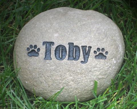 Dog Memorial Stone, Garden Memorial Stone 6-7 Inch - MainlineEngraving.Com