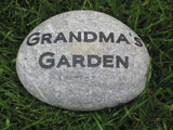Garden Stone For Mom, Grandmom, Engraved, River Stone 7-8 Inch