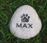 Personalized Garden Pet Stone Memorial Grave Marker Memorial Burial Stone Marker 4-5 Inch