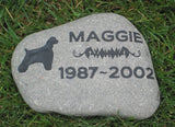 Cocker Spaniel Pet Memorial Stone 7-8 Inch
