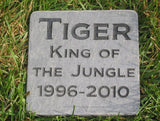 Personalized Pet Memorial Engraved Stone Slate 6 x 6 Inch Memorial Stone Grave Marker Burial Stone