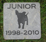 Pet Memorial Stone, Chihuahua, Memory Stone, Grave Maker, 6 x 6 Inch Slate