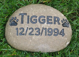 Personalized Pet Memorial Stone 6-7 Inch Memorial Grave Pet Marker Headstone for Dog or Cat Pet Memorial Stone Burial Cemetery Stone Marker