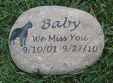 Pet Memorial Stone, Boxer, Dog Memorial Stone 10-11