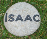Personalized Garden Stone with Family Name 4-5 Inch Custom Garden Stone Marker
