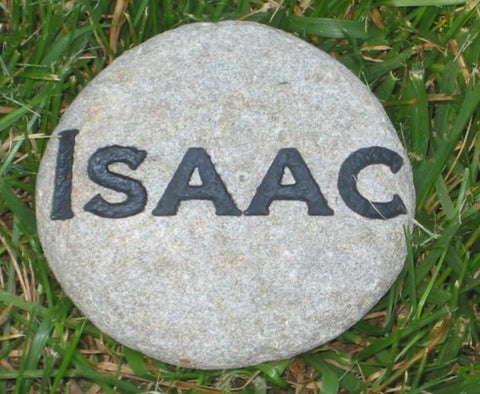 Personalized Garden Stone with Family Name 4-5 Inch