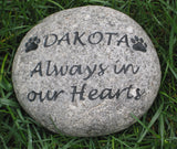 Personalized Pet Memorial Stone Grave Marker Headstone 7-8 Inch Memorial Stone Marker Dog Cat In Memory Stone Gravestone Headstone