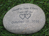 Oathing Stone, Engraved Wedding Stone 10 - 11 Inch