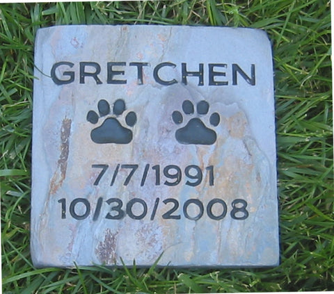 Personalized Pet Gravestone Memorial Marker 6 x 6 Inch Memorial Headstone Grave Marker