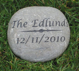 Personalized Oathing Stone Wedding & Garden Stone Engagement Gift Anniversary Gift 7-8 Inch Wedding Gift Garden Stone