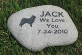 Pet Memorial Stone, Border Collie, Memorial Gravestone, Grave Marker 9-10 Inch