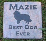Collie Memorial Stone Collie Garden Memorial Stone Grave Marker Memorial Headstone 6 x 6 Inch