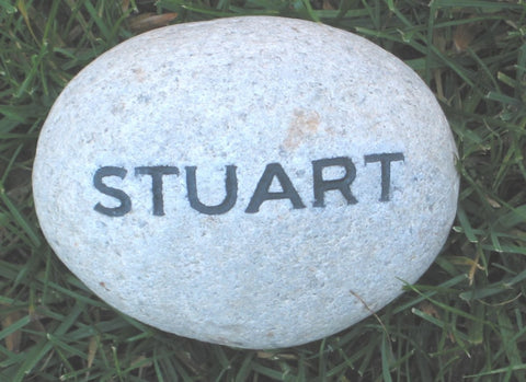 Personalized Garden Stone with Name 4-5 Inch Engraved Garden Stone
