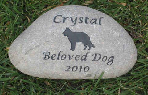 German Shepherd Pet Memorial Stone German Shepherd Grave Marker Pet Memorial Marker 9-10 Inch
