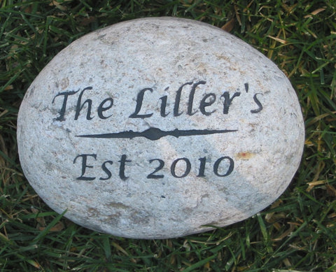 Personalized Stone Address Marker 7-8 Inch Unique Birthday Gift Ideas Stone Garden Address Marker