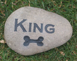 Personalized Dog Bone Garden Memorial Stone Pet Memorial Stone Headstone 5-6 Inches Memorial Burial Stone Maker