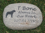 Pet Grave Marker, Mastiff, Pet Memorial Stone 9-10 Inch