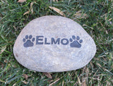 Pet Memorial Stone Personalized for Your Dog or Cat Garden Memorial 5-6 Inch Memorial Pet Stone Grave Marker