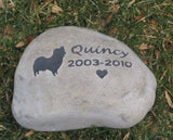 Pet Grave Marker, Papillon, Memorial Stone, Headstone 8-9 Inch Garden Memorial