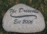 Personalized Stone Address Marker 6-7 Inch Garden Address Marker Engraved Stone