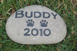 Personalized Garden Memorial Stone Grave Marker Dog or Cat 6-7 Inch Memorial Burial Cemetery Stone Grave Marker