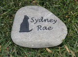 Cat Memorial Stone, Cat Grave Marker 7-8 Inch Pet Stone, Headstone