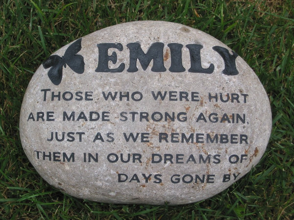 Personalized garden stone memorial memorial tree stone 11 12 inch me personalized pet for Garden memorials for loved ones