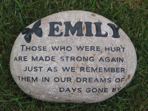 Personalized Garden Stone Memorial - Memorial Tree Stone 11-12 Inch Memorial Marker Loss of Child, Father, Mother, Son, Daughter Loved One