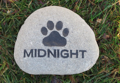 Personalized Pet Memorial Stone Grave Marker for Dog or Cat 5-6 Inch Pet Memorial Stone Headstone Burial Stone