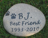 Personalized  Pet Memorial Stone Grave Marker 9-10 Inch Memorial Burial Stone Marker Headstone Tombstone Marker