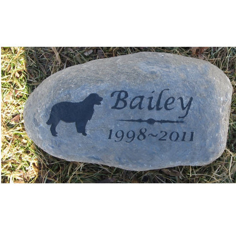 Golden Retriever Pet Memorial Stone, Headstone, Tombstone 8-9 Inch
