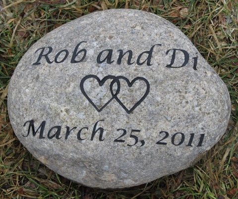 PERSONALIZED Wedding Oathing Stone 8-9 Inch Oath Stone Irish Celtic Wedding Stone