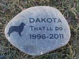 Pet Grave Marker, Memorial Stone, Gravestone, Border Collie, Headstone 8-9 Inch