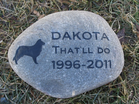 Pet Grave Marker, Border Collie, Memorial Stone 8-9 Inch