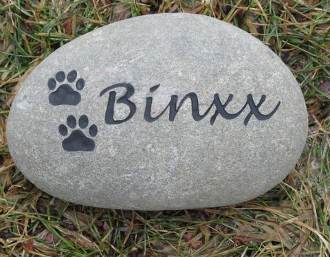 Personalized Pet Memorial Stone Grave Marker 6-7 Inch Memorial Stone Dog or Cat Cemetery Burial Stone Marker