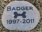 Pet Tombstone, Burial Stone Marker 6 -7 Inch