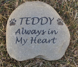 Personalized Engraved Pet Memorials - Stone Memorial Headstone Grave Marker 8-9 Inch Pet Stone Memorial Gravestone Marker