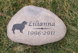 Pet Grave Marker, Golden Retriever, Pet Memorial Stone, Headstone 8-9 Inch