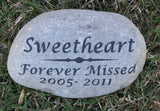 Pet Stone Memorial, Memorial Stone Grave Marker,  Garden Memorial, Dog Memorail, Cat Memorial, Burial Stone Marker, Pet Memorial, Memorial Gift 8-9 Inches