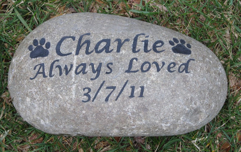 Pet Memorial, Dog, Cat Memorial, Garden Gravestone 8-9 Inch - MainlineEngraving.Com