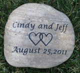 Personalized Oathing Stone - Custom Engraved Wedding Stone 10-11 Inch Oath Stone Touch Stone