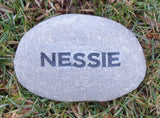 Personalized Engraved Stone 3-4 Inch Garden Stone Marker
