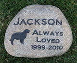 Pet Memorial Stone Golden Retriever Gravestone Headstone 9-10 Inch