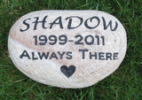 Personalized Stone Pet Memorials - Pet Memorial Gravestone 8-9 Inch Burial Memorial Stone Maker