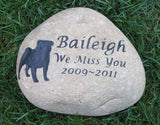 Pug Grave Marker, Headstone, Tombstone 9-10 Inch - MainlineEngraving.Com