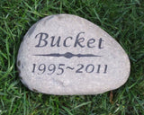 Personalized Pet Memorial Gravestone 5-6 Inch Memorial Headstone Burial Stone Grave Marker Tombstone Pet Dog Cat