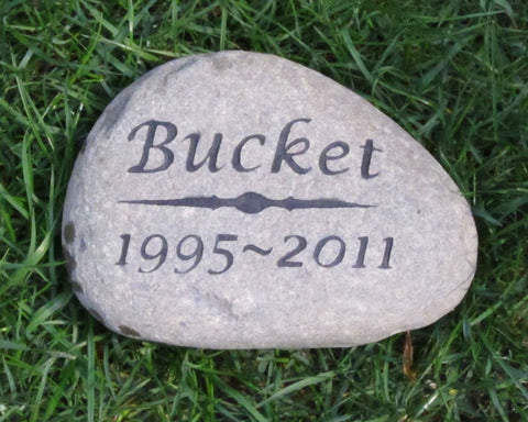 Pet Memorial Gravestone, Tombstone, Headstone 6-7 Inch - MainlineEngraving.Com